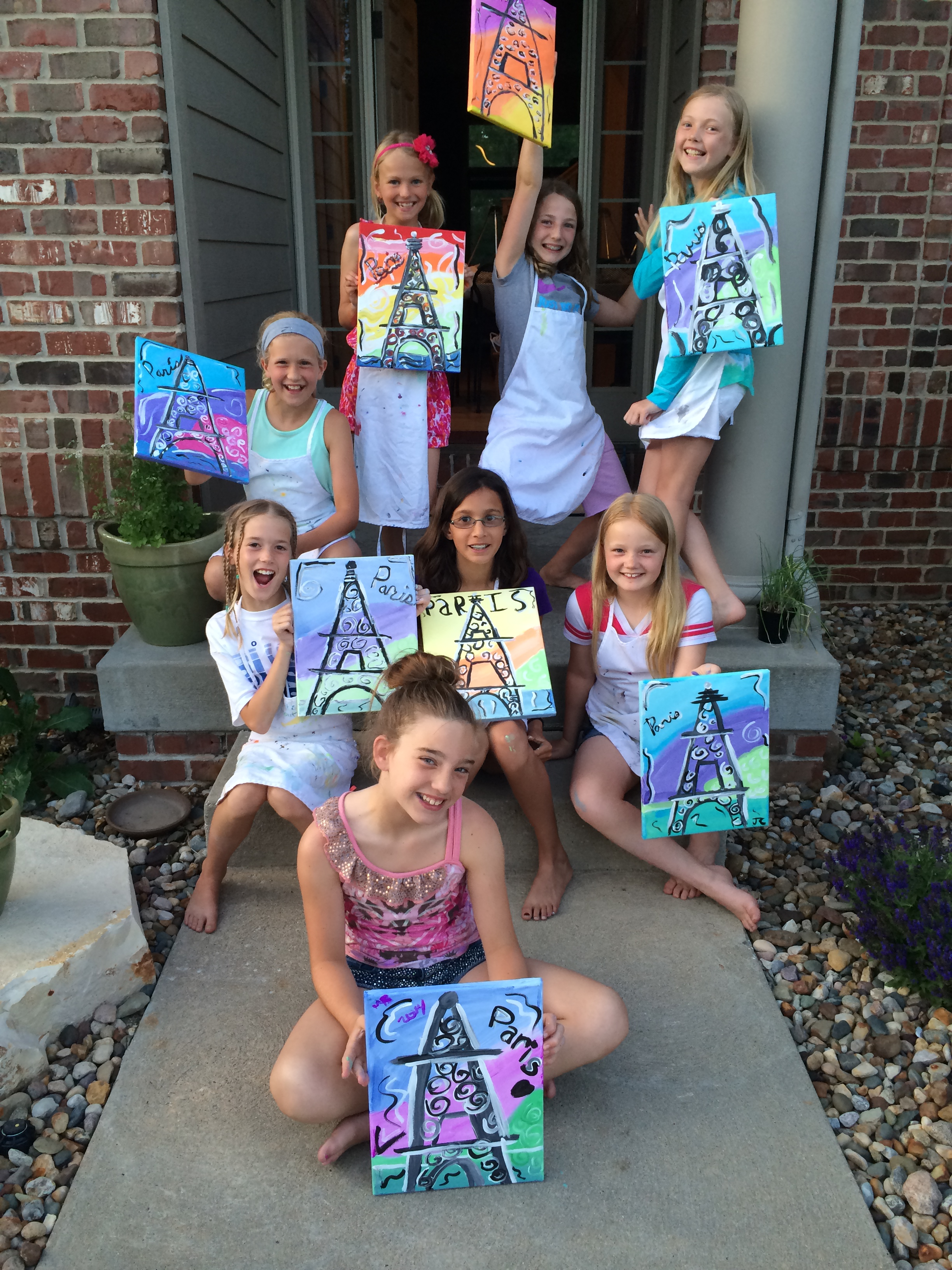 Art uncorked artistic painting as entertainment for Kids paint party