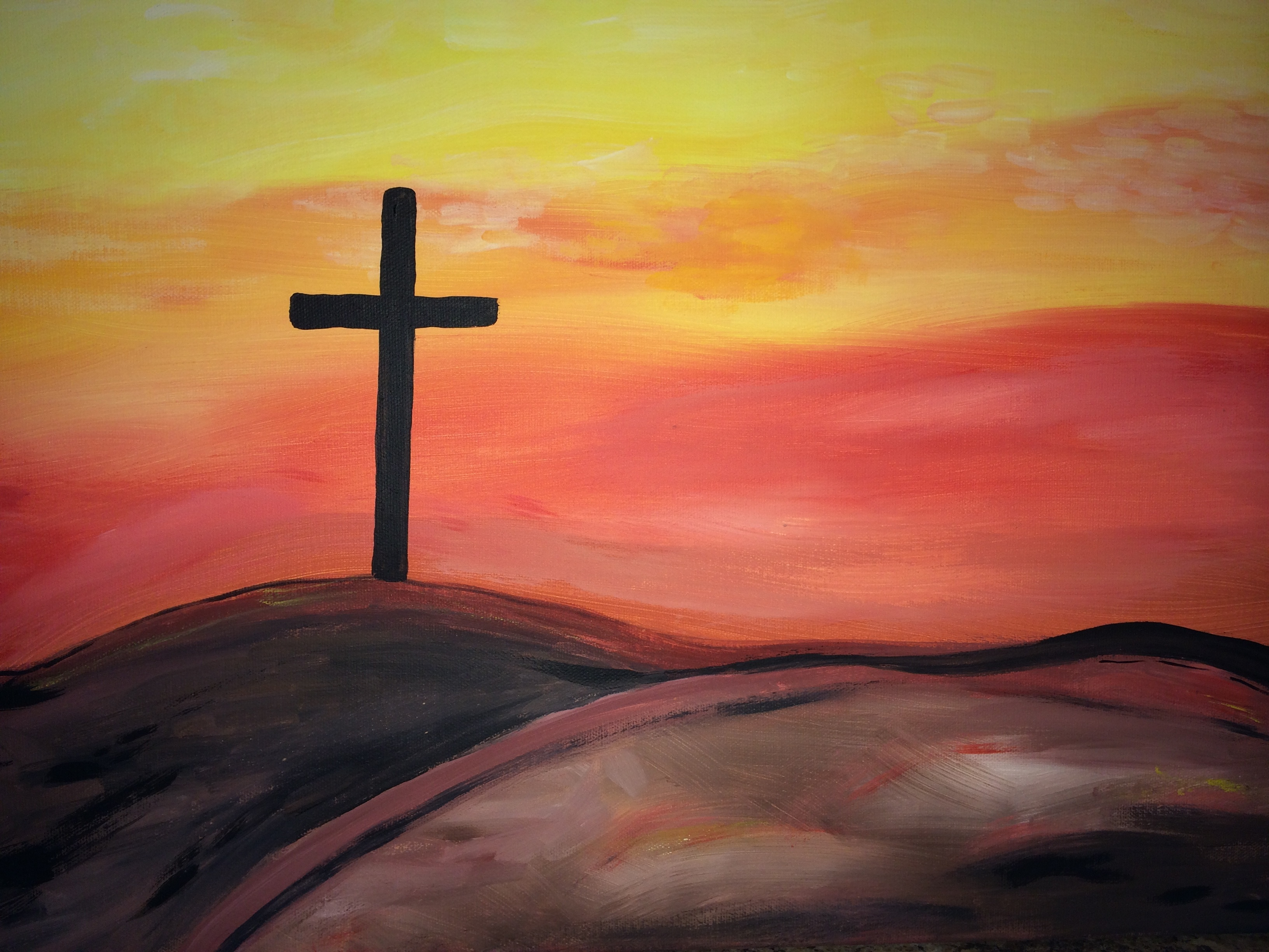 Painting options art uncorked for Cross paintings on canvas