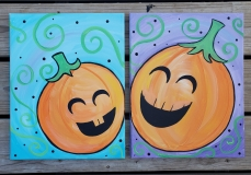 pumpkins painting 2
