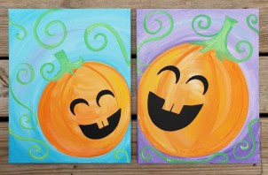 pumpkins painting