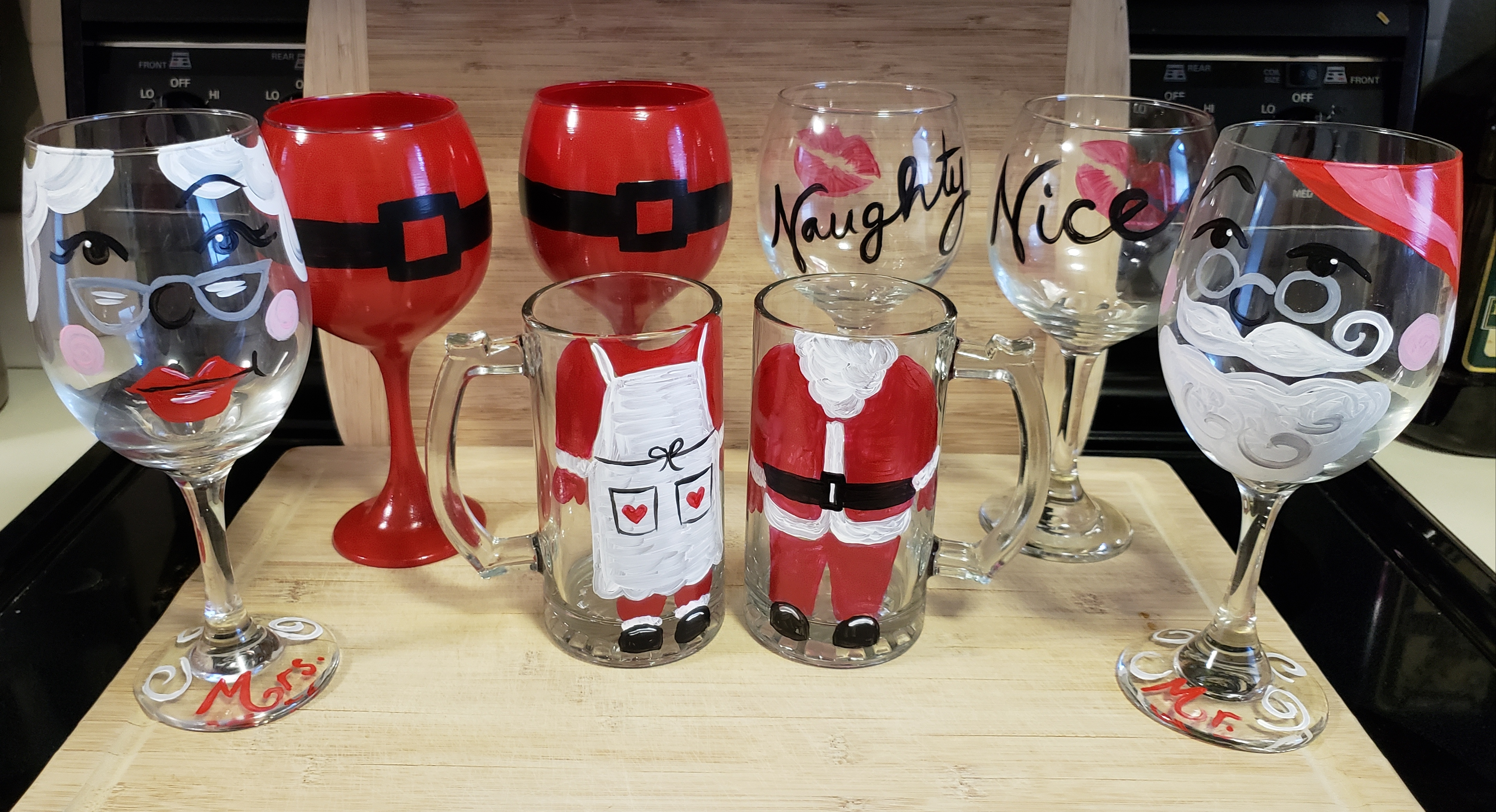 Holiday Wine Glasses