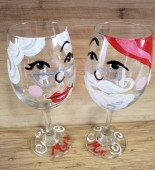 Mr and Mrs Claus Wine glasses
